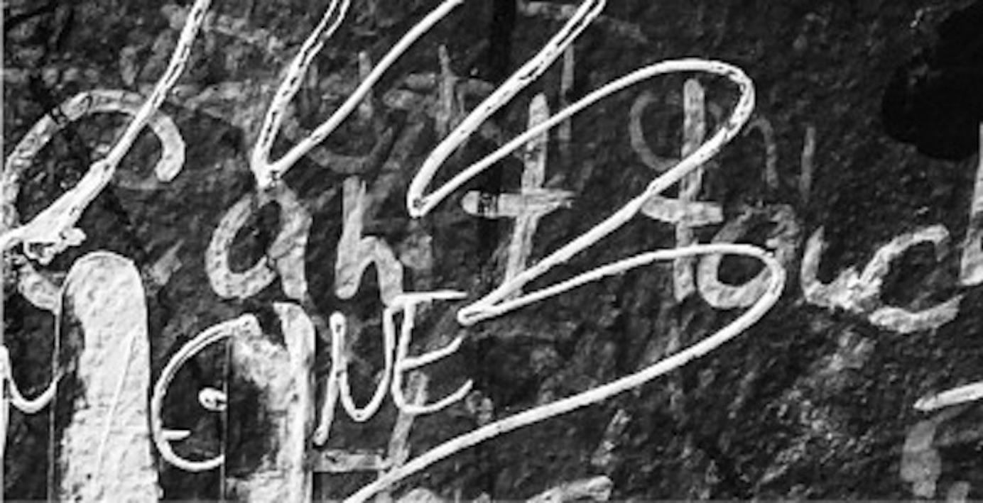 Photograph of graffiti tags