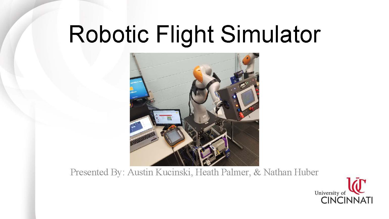 Robotic Flight Simulator